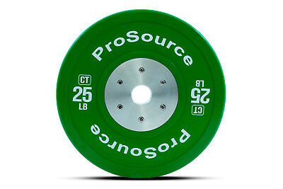 ProSource Competition Color Training Bumper Plates, Rubber with Steel Insert,...
