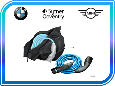 BMW Genuine i AC Fast Charge Cable i3 i8 61902455069