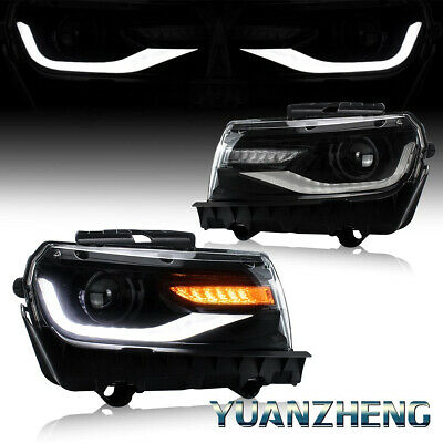 LED Head Lamps For 2014-2015 Chevy Camaro LT / SS / ZL DRL Projector Headlights