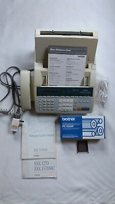 Brother 1570MC Plain paper Fax/Answering/Copy Machine & 2 spare refill roll.