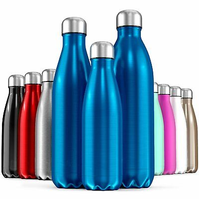 350-1000ml Water Bottle Vacuum Insulated Flask Thermal Sport Chilly Cold Cups AU