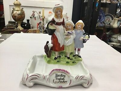 Vintage Yardley English Lavender Soap Dish Figure Figurine Mother Kids Display