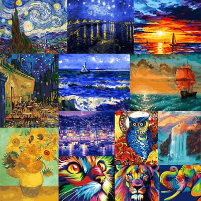 DIY Paint By Numbers Kit Digital No Framed Oil Painting Artwork Home Wall Decor