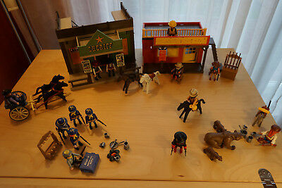 Playmobil Western Set, umfangreich mit Cowboys, Sheriff Office, Trapper, Tiere