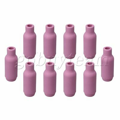 10 Packs Ceramic 10N50 4# Nozzle Cups for WP-18/26 TIG Welding Torch