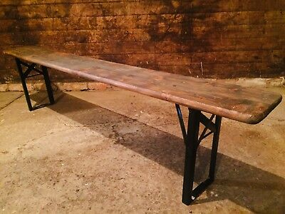 Large Vintage Industrial Farmhouse Kitchen Dining Bench Rustic Pine Benches