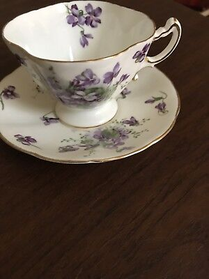 Hammersley Bone China Victorian Violets England's Countryside Tea Cup & Saucer