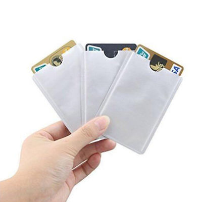 5 Pcs RFID Blocking Credit Card Bank Card Protector Holder Case Silver Color