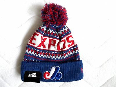 Rare Retro MONTREAL EXPOS NEW ERA Bobble Hat Baseball Pompom Toque Canada Tags