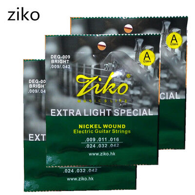 1 x Ziko Extra Light Soft DEG-009 Electric Guitar Strings Set  UK SHIPPING