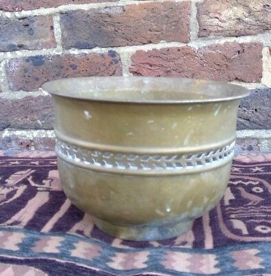 Vintage. Quality Brass Planter Plant Pot.