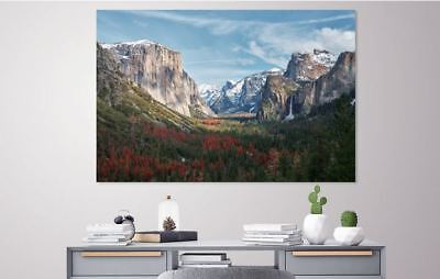 BEAUTIFUL SNOW NATURE SCENERY picture wall ART Canvas home wall choose your size