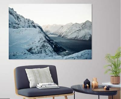 SNOW LOVING NATURE SCENERY picture wall ART Canvas home wall choose your size