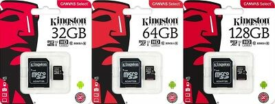 Kingston Micro SD XC SDCS 32 GB 64 GB 128GB Classe 10 Scheda Memoria 80MB/S