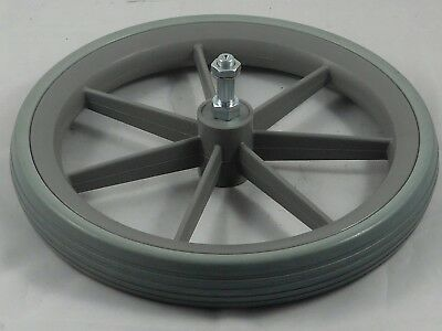 "NHS Style Wheel Chair 12 1/2"" Rear Wheel 315mm with Low Profile Grey Tyre"