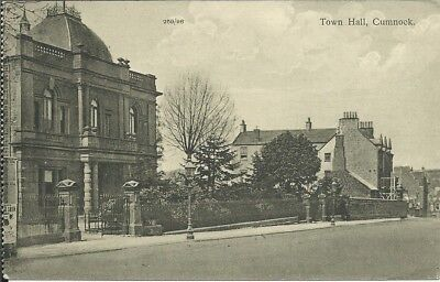 Vintage locally published postcard of Town Hall, Cumnock, Ayrshire
