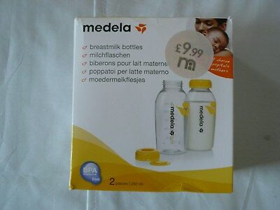 Medela breast milk bottles, 2 x 250ml, brand new.