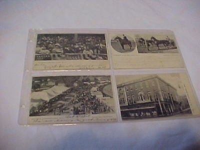 4 DIF ANTIQUE 1900's PICTURE POST CARDS, BROCKTON, MASS. FAIR  B & W MOST POSTED