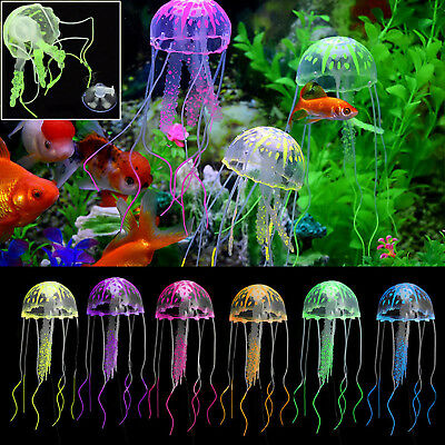 JELLYFISH Glowing Effect Aquarium FLOATING Jelly Fish Ornament Decoration Small