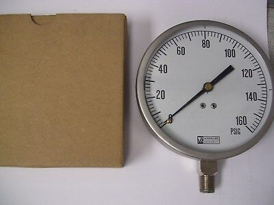 Weksler Instruments Pressure Gauge. 0-160 PSIG  # EA14 NEW IN BOX 160 PSI