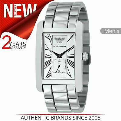 Emporio Armani Classics Men's Watch¦Silver Square Dial¦Stainless Steel¦AR0145