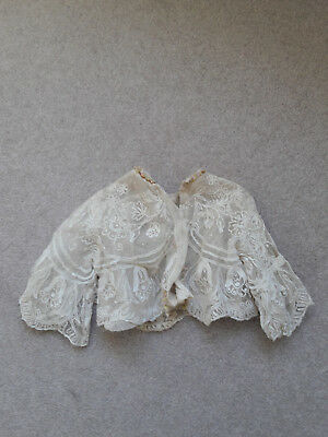 Antique lace doll's coat and shawl