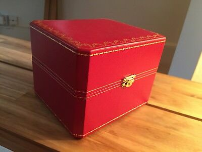 Large Cartier Jewellery Storage Box with Compartments 6x5x4.5