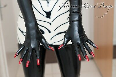 Gloves With Nails  By Adrienne Latex Design Size M  Gants Avec Ongles Fetish