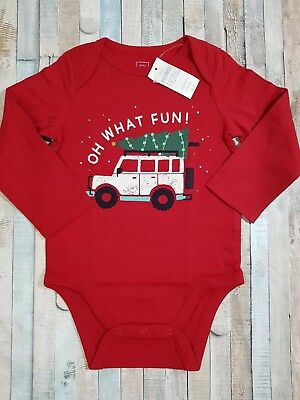 Baby Gap Boy Christmas  Long Sleeve  body suit  Age 18 -24 months