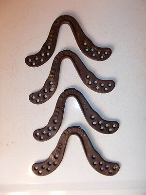 Lot of 4 Antique Cast Iron LOUDEN C55 Hay Track Trolley Hangers