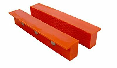 Universal Plastic Magnetic Vise Jaw Cover For Holding Wood Metal Tubing 6 Inch