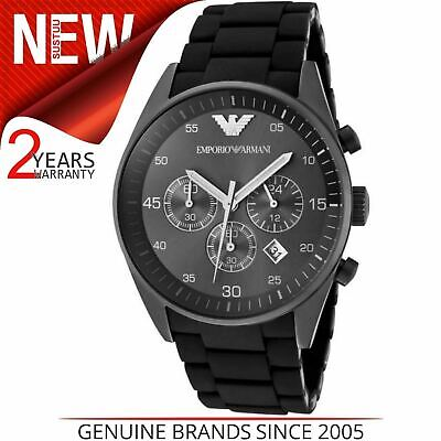 Emporio Armani Sportivo Men's Watch¦Chronograph Black Dial¦Stainless Band¦AR5889