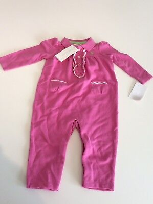 61bfd488a BABY GIRLS PINK Babygrow All in One Sleepsuit Feet Flowers Floral 0 ...