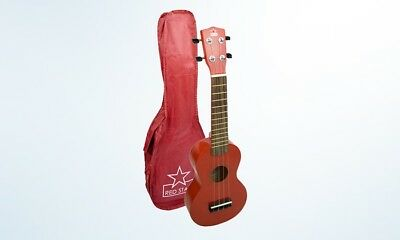 Red Star Red Soprano NEW Ukelele with Bag