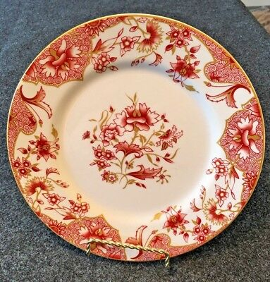 """Neiman Marcus Red and White Oriental Flowers 8.5"""" Plate - Queens Fine China"""