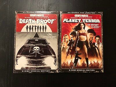 RARE Grindhouse   Planet Terror + Deathproof Unrated Special Edition Slipcover