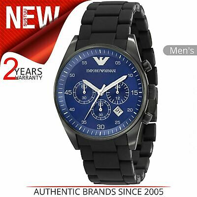 Emporio Armani Sportivo Men's Watch¦Chronograph Blue Dial¦Bracelet Band¦AR5921