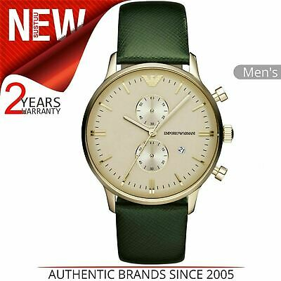 Emporio Armani Classic Men's Casual Watch AR1722│Chronograph Dial│Leather Strap