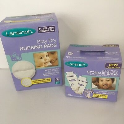 Lot Of Lansinoh Breast Milk Storage Bags And Nursing Pads Nipple Covers
