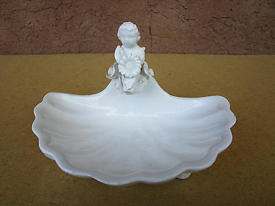 Floral Flower Child White Seashell White Soap Dish For Bathroom Made In Italy