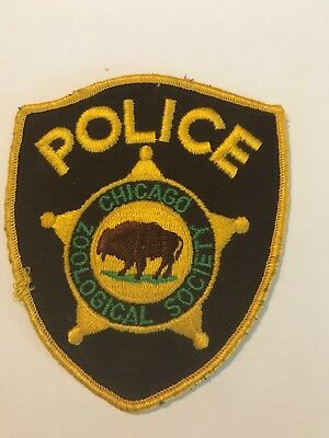 Zoo Related ZOOLOGICAL SOCIETY OF Chicago Police Patch