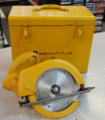 """Ingersoll Rand S8 8-1/2"""" 90 PSI Air Circular Saw Tested Good Used Condition"""