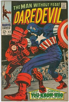 Daredevil #43 featuring Captain America - Jack Kirby cover