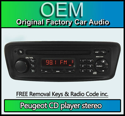Peugeot 206 CD player radio, Clarion PU-2325A stereo + radio code & removal keys