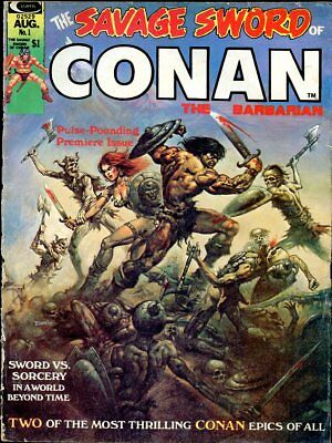 SAVAGE SWORD OF CONAN THE BARBARIAN #1 - 1974 comic book MAGAZINE - RED SONJA,