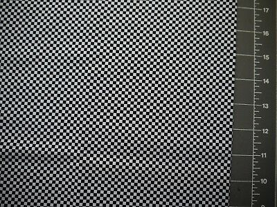 Patchwork Cotton White with Black Squares Half Meter