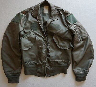 US Military Major Patches CWU-36/P Flyers Jacket Meduim NOMEX, OD Green