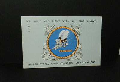 United States Naval Construction Battalions Seabees Navy Postcard