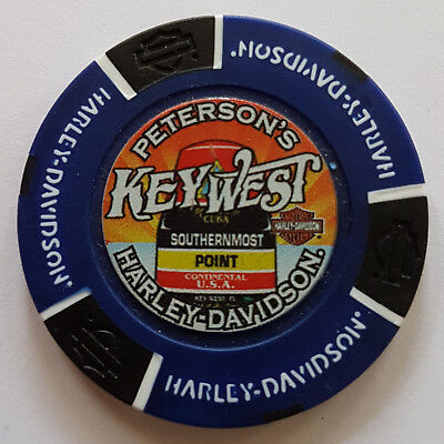 "1 Orig. Harley-Davidson Pokerchip ""Peterson`s H-D, Key West FL, USA"""