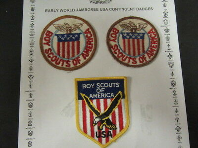 World Jamboree US Contingent Pocket Patches, Lot of 3 Different   c46
